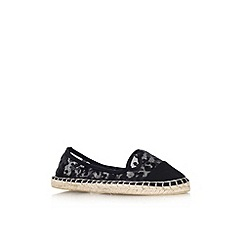 Miss KG - Black 'Destiny' flat slip on espadrille