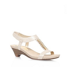 Anne Klein - Champagne 'Teah2' Low heeled sandal