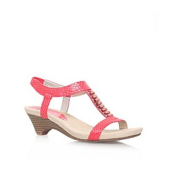 Anne Klein - Red 'Teah2' Low heeled sandal