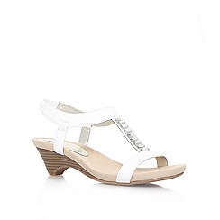Anne Klein - White 'Teah3' Low heeled sandal