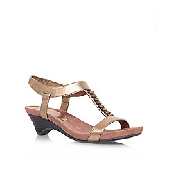 Anne Klein - Metal 'Teah3' Low heeled sandal