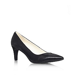 Anne Klein - Black 'Barb6' mid heel court shoe