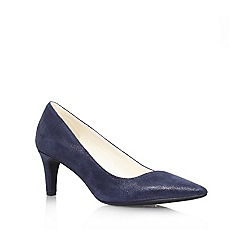 Anne Klein - Navy 'Barb6' mid heel court shoe
