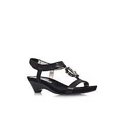 Anne Klein - Black 'Tycho2' low heel sandal