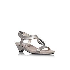 Anne Klein - Pewter 'Tycho3' low heel sandal
