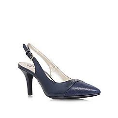 Anne Klein - Navy 'Yarina8' mid heel slingback court shoe