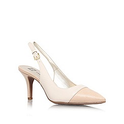 Anne Klein - Cream 'Yarina' mid heel slingback court shoe