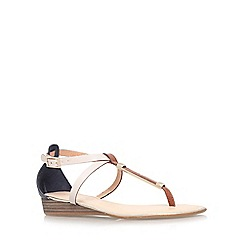 Carvela - Tan comb 'Kruise' low wedge heel sandal