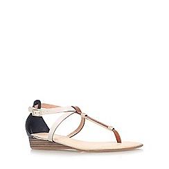 Carvela - Tan comb 'Kruise' low wedge heel sandal