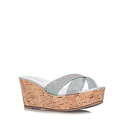 Carvela - Silver 'Kable' high wedge heel sandal