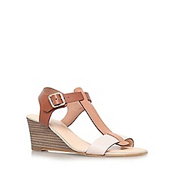 Carvela - Tan comb 'Keeping' low wedge heel sandal