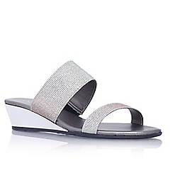 Carvela - Silver 'Kake' low wedge heel sandal