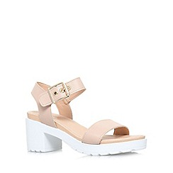Carvela - Nude 'Karina' low block heel sandal