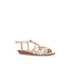 Carvela - White 'Kazoo' flat strappy sandal