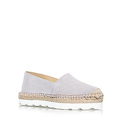 Carvela - Grey 'Lido' flat platform slip on shoe