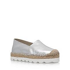 Carvela - Silver 'Lido' flat espadrille sneaker