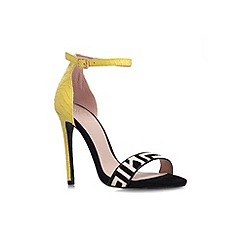 KG Kurt Geiger - Yellow 'Joy' high heel sandal