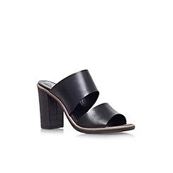 Carvela - Black 'Krow' high heel slip on sandal