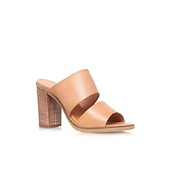Carvela - Tan 'Krow' high heel slip on sandal