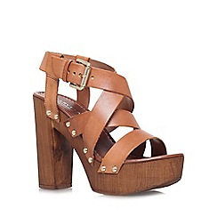 Carvela - Tan 'Kookie' high block heel platform sandal