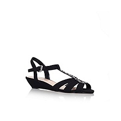 Carvela - Black 'Spain' low wedge heel sandal