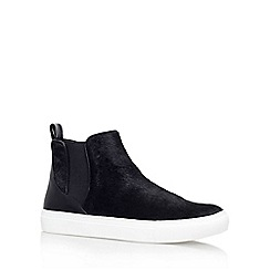 KG Kurt Geiger - Black 'Luxembourg' flat pull on ankle boot