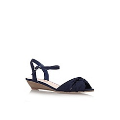 Carvela - Navy 'Sparrow' low wedge heel sandal