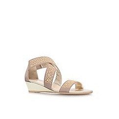 Carvela Comfort - Taupe 'Stacy' low wedge heel sandal