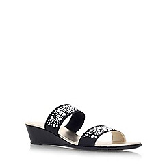 Carvela Comfort - Black 'Sage' low wedge heel sandal