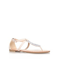 Miss KG - Nude 'Jersey' flat strappy sandal