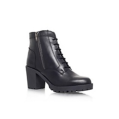 Carvela - Black 'Strong' lace up heel boots