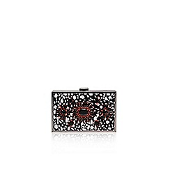 Miss KG - Black/white 'Halo' clutch bag