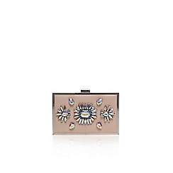 Miss KG - Nude 'Halo' small clutch bag