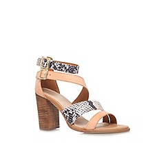 Carvela - Tan 'Kissy' high block heel sandal