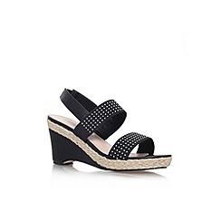 Carvela - Black 'Sassy' mid wedge heel sandal
