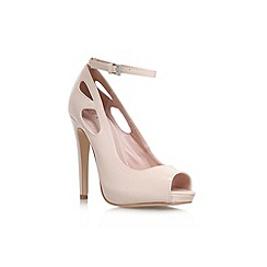 Lipsy - Nude 'Vivian' high heel peep toe court shoe