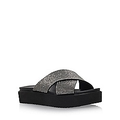Carvela - Black 'Krypton' flat slip on sandals