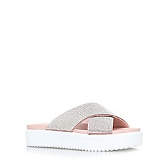 Carvela - Nude 'Krypton' flat platform slip on sandals