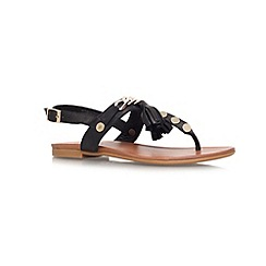 Carvela - Black 'Krimp' flat toe post sandals