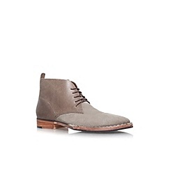 KG Kurt Geiger - Grey 'Wallasey' flat lace up ankle boot