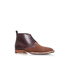 KG Kurt Geiger - Brown 'Wallasey' flat lace up ankle boot