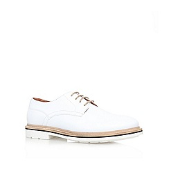 KG Kurt Geiger - White 'Oxton' Leather lace up