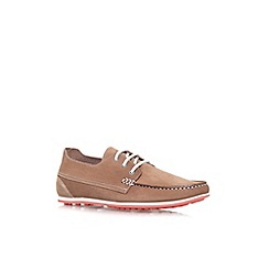 KG Kurt Geiger - Tan 'Southwell' flat lace up casual shoe