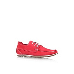 KG Kurt Geiger - Red 'Southwell' flat lace up casual shoe