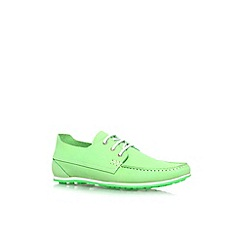 KG Kurt Geiger - Green 'Southwell' flat lace up casual shoe