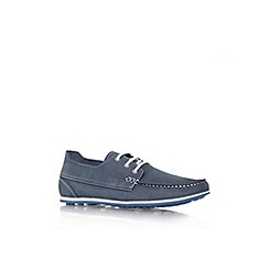 KG Kurt Geiger - Blue 'Southwell' flat lace up casual shoe