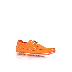KG Kurt Geiger - Orange 'Southwell' flat lace up casual shoe