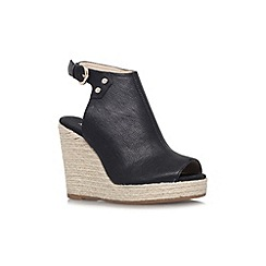 Nine West - Black 'Followme' high wedged shoes