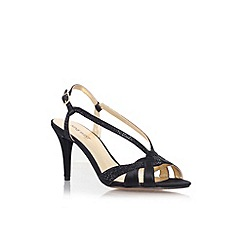 Nine West - Black 'Illiona2' mid heel strappy sandal