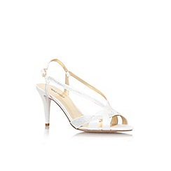 Nine West - White 'Illiona2' mid heel strappy sandal